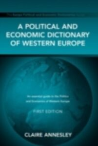 Foto Cover di Political and Economic Dictionary of Western Europe, Ebook inglese di  edito da Taylor and Francis