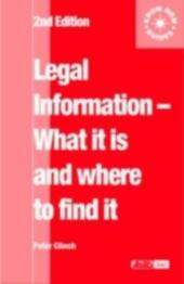 Legal Information: what it is and where to find it