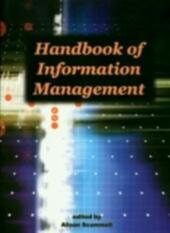 Handbook of Information Management