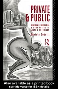 Ebook in inglese Private and Public Gobetti, Daniela