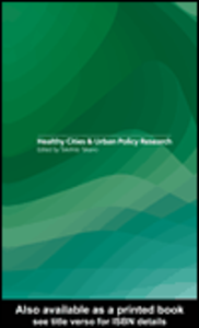 Ebook in inglese Healthy Cities and Urban Policy Research