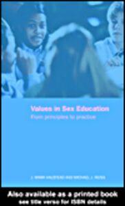 Foto Cover di Values in Sex Education, Ebook inglese di Mark Halstead,Michael Reiss, edito da
