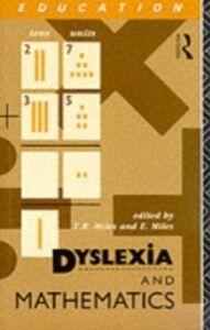 Foto Cover di Dyslexia and Mathematics, Ebook inglese di  edito da Taylor and Francis