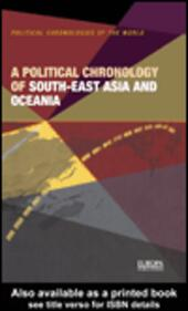 A Political Chronology of South-East Asia and Oceania