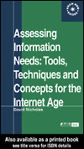 Ebook in inglese Assessing Information Needs Nicholas, David