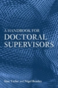 Ebook in inglese Handbook For Research Superv -, -