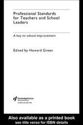 Professional Standards for Teachers and School Leaders