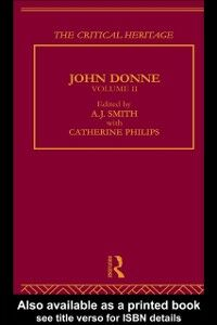 Ebook in inglese John Donne: The Critical Heritage Smith, A.J.