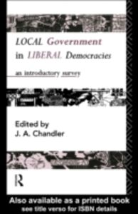 Ebook in inglese Local Government in Liberal Democracies