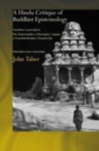 Ebook in inglese Hindu Critique of Buddhist Epistemology Taber, John