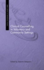 Ebook in inglese Clinical Counselling in Voluntary and Community Settings