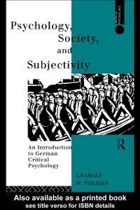 Foto Cover di Psychology, Society and Subjectivity, Ebook inglese di Charles Tolman, edito da Taylor and Francis