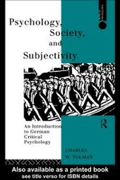 Psychology, Society and Subjectivity