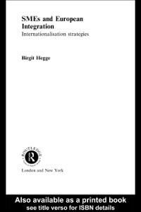 Ebook in inglese SME's and European Integration Hegge, Birgit