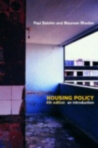 Ebook in inglese Housing Policy Balchin, Dr Paul , Balchin, Paul , Rhoden, Maureen