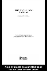 Ebook in inglese Jewish Law Annual Volume 14 The Institute of Jewish Law, Boston University of Law
