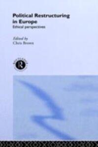 Foto Cover di Political Restructuring in Europe, Ebook inglese di  edito da Taylor and Francis