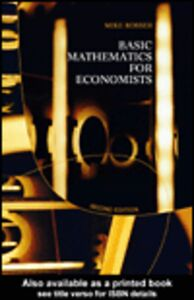 Ebook in inglese Basic Mathematics for Economists Rosser, Mike