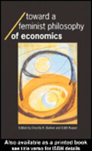 Ebook in inglese Toward a Feminist Philosophy of Economics