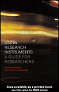 Ebook in inglese Using Research Instruments Birmingham, Peter , Wilkinson, David