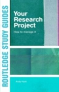 Ebook in inglese Your Research Project Hunt, Andy