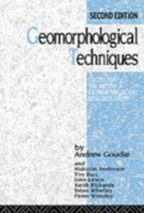 Foto Cover di Geomorphological Techniques, Ebook inglese di  edito da Taylor and Francis