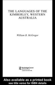 Ebook in inglese Languages of the Kimberley, Western Australia McGregor, William B.