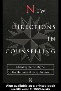 Foto Cover di New Directions in Counselling, Ebook inglese di  edito da Taylor and Francis