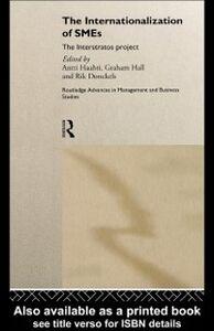 Foto Cover di Internationalization of Small to Medium Enterprises, Ebook inglese di  edito da Taylor and Francis