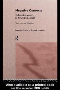 Ebook in inglese Negative Contexts Wouden, Ton van der