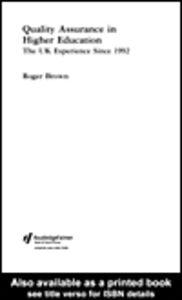 Foto Cover di Quality Assurance in Higher Education, Ebook inglese di Roger Brown, edito da