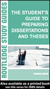 Foto Cover di The Student's Guide to Preparing Dissertations and Theses, Ebook inglese di Brian Allison,Phil Race, edito da