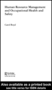 Foto Cover di Human Resource Management and Occupational Health and Safety, Ebook inglese di Carol Boyd, edito da