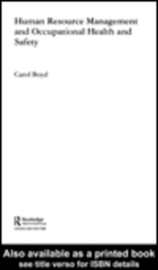 Ebook in inglese Human Resource Management and Occupational Health and Safety Boyd, Carol