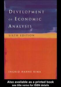 Ebook in inglese Development of Economic Analysis Rima, Ingrid H.