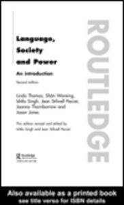 Foto Cover di Language, Society and Power, Ebook inglese di AA.VV edito da