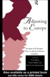 Ebook in inglese Adjusting to Europe -, -