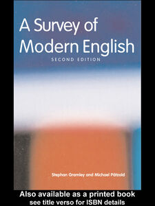 Ebook in inglese A Survey of Modern English Gramley, Stephan , Paetzold, Michael