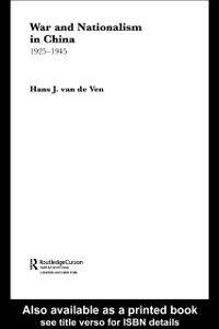 Ebook in inglese War and Nationalism in China: 1925-1945 Ven, Hans van de