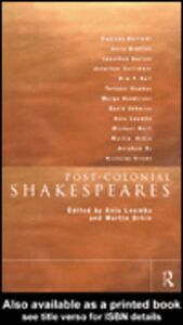 Ebook in inglese Post-Colonial Shakespeares