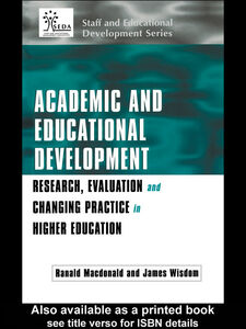 Ebook in inglese Academic and Educational Development Macdonald, Ranald , Wisdom, James