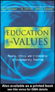 Ebook in inglese Education for Values