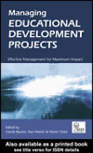 Ebook in inglese Managing Educational Development Projects