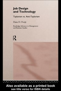 Ebook in inglese Job Design and Technology Pruijt, Hans D.