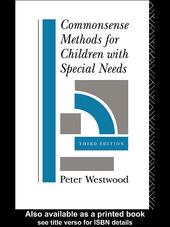 Commonsense Methods for Children with Special Needs