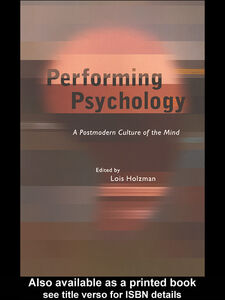Foto Cover di Performing Psychology, Ebook inglese di Lois Holzman, edito da