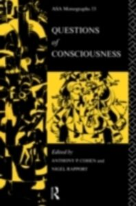 Foto Cover di Questions of Consciousness, Ebook inglese di  edito da Taylor and Francis