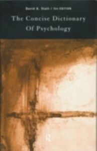 Ebook in inglese Concise Dictionary of Psychology -, -