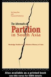 Aftermath of Partition in South Asia
