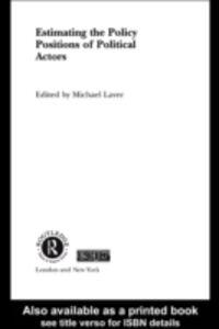 Foto Cover di Estimating the Policy Position of Political Actors, Ebook inglese di  edito da Taylor and Francis